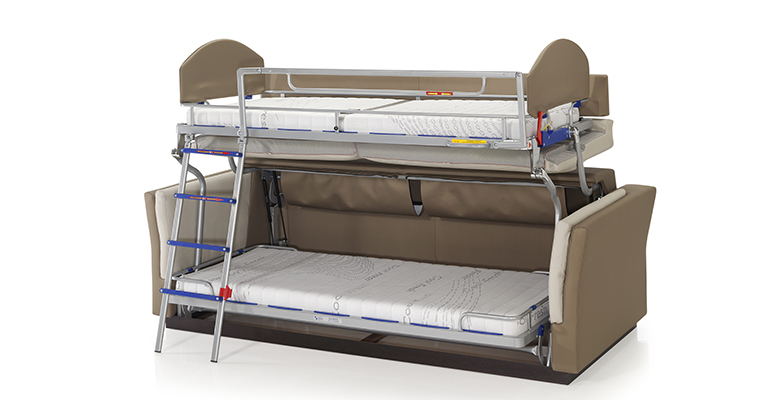Sof litera para hoteles elegante y polivalente infohoreca for Sofa que se hace litera