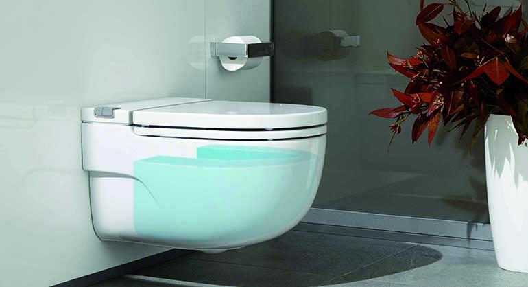 Inodoro con cisterna integrada redefine el cuarto de ba o - Cisterna bano ...