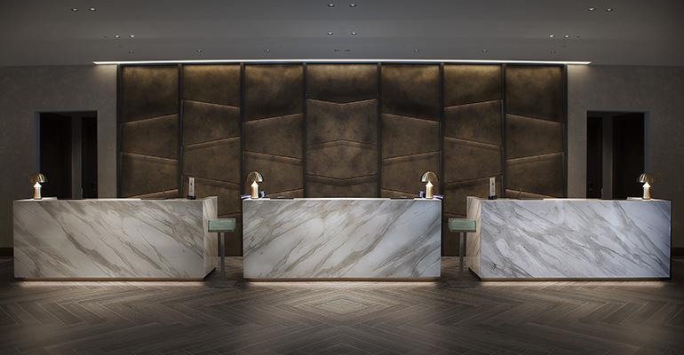 Vestíbulo del Hotel Hilton de Milán