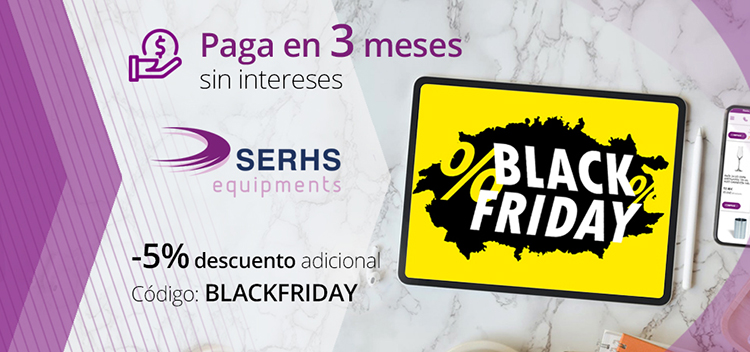 Black Friday: descuento del 5% y ofertas en copas de vino, utensilios de cocina y de pastelería en la tienda on line de SERHS Equipments