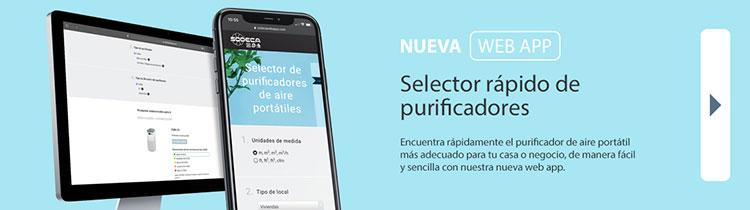 La nueva web app de Sodeca permite seleccionar purificadores de aire portátiles