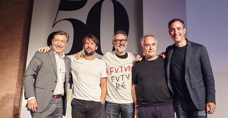 Cocineros celebran el aniversario de los 50 best