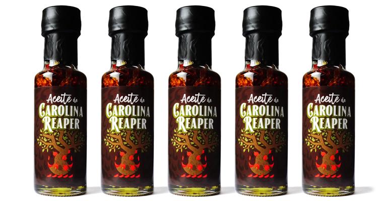 Aceite de oliva con Carolina Reaper