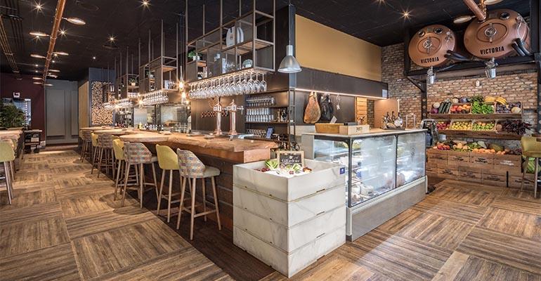 Restaurante Palocortado con suelos Altro 1