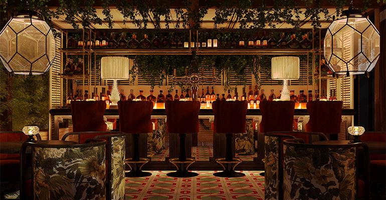 Bar del Bless Hotel Madrid