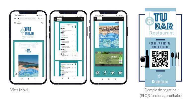 Barbadillo desarrolla una solución de cartas digitales para sus clientes