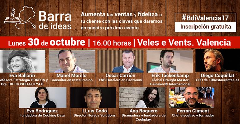 Programa del evento de Barra de Ideas en Valencia