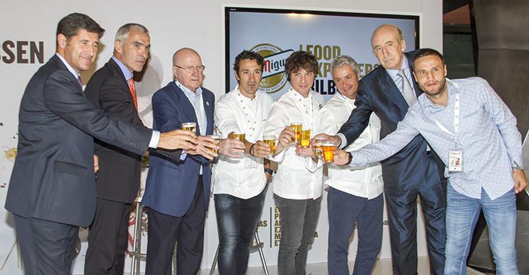 Jordi Cruz, Fernando Canales y Eneko Atxa, en Bilbao