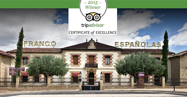 BodegasFranco Españolas certificado TripAdvisor