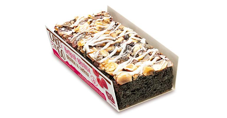 Brownie con frambuesa