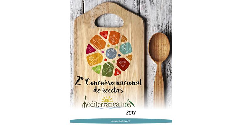 Cartel del concurso de recetas mediterraneamos 2017