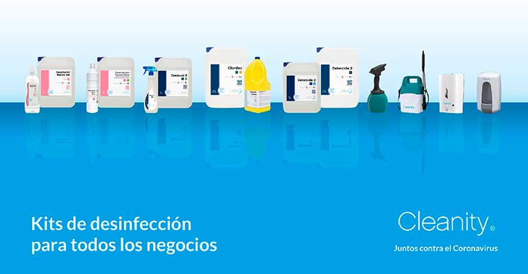 Cleanity bodegon desinfectantes