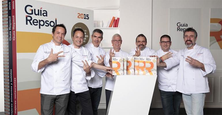 Cocineros con 3 soles en la presentación de la Guía Repsol 2015