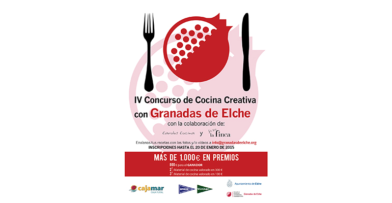Cartel del concurso cocina creativa con granadas