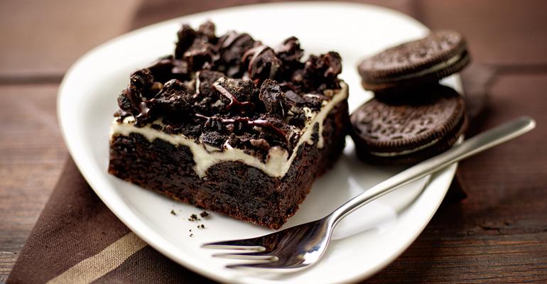 cookies cream brownie