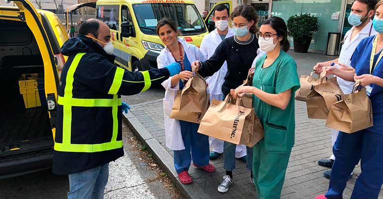 Correos se une a #Food4Heroes y comienza a repartir comida a los hospitales