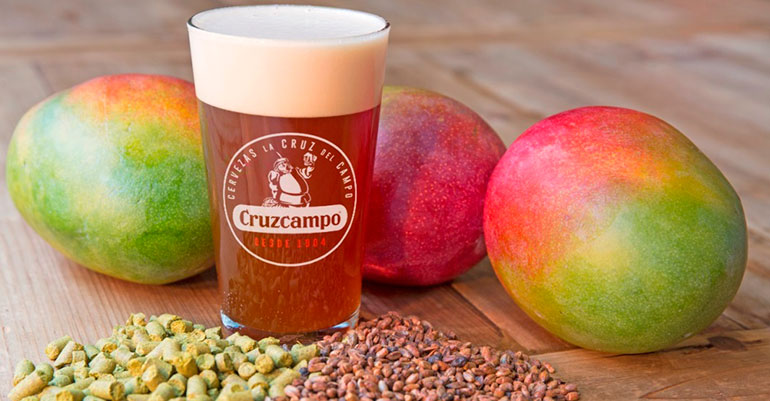 Cerveza artesana IPA elaborada con mangos malagueños