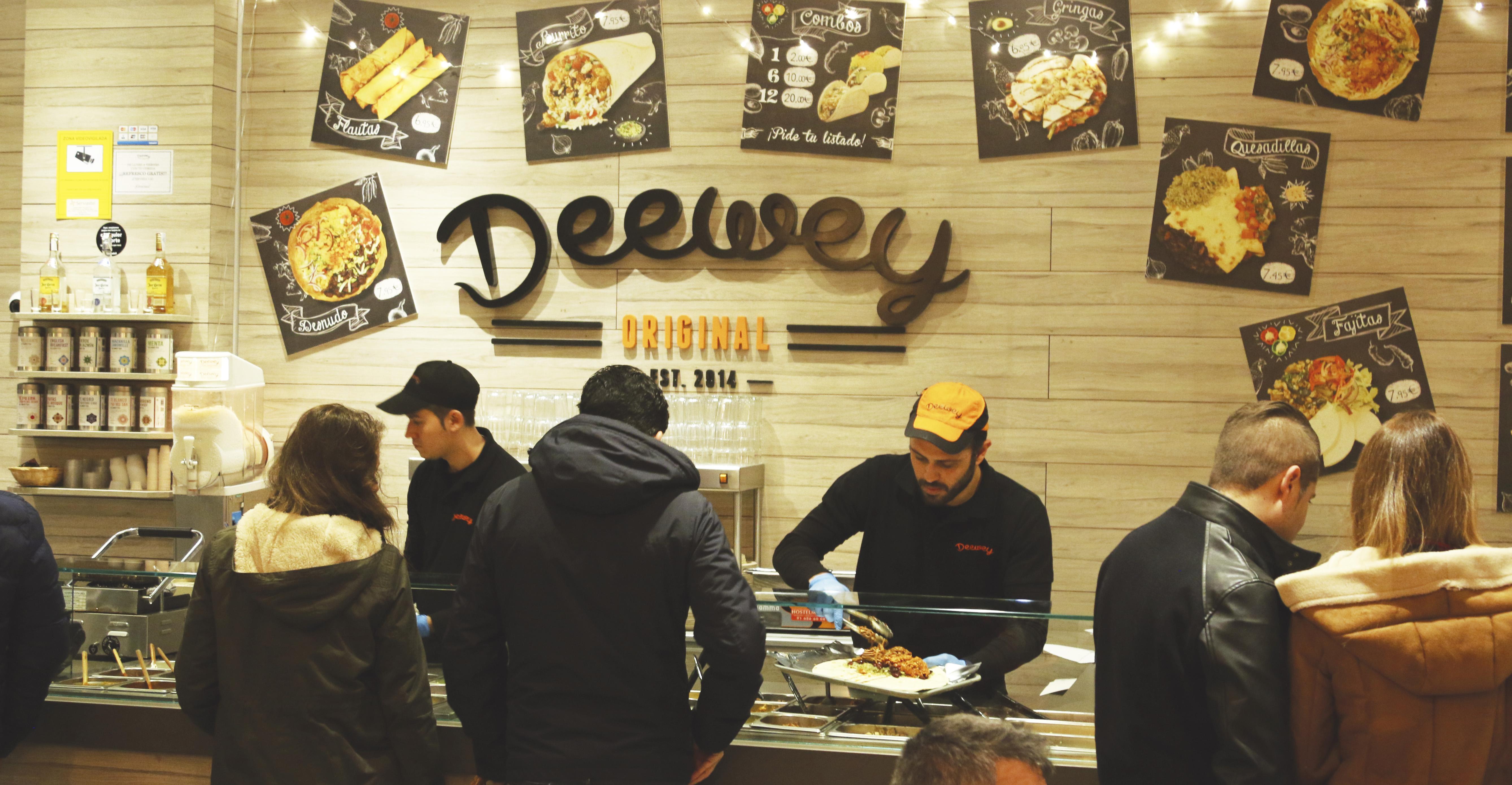 Enseña de comida latina Deewey