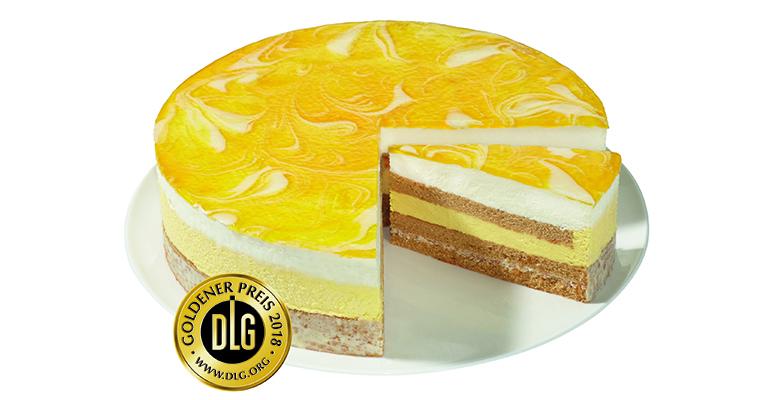 Pastel crujiente de mango y yogur de Erlenbacher