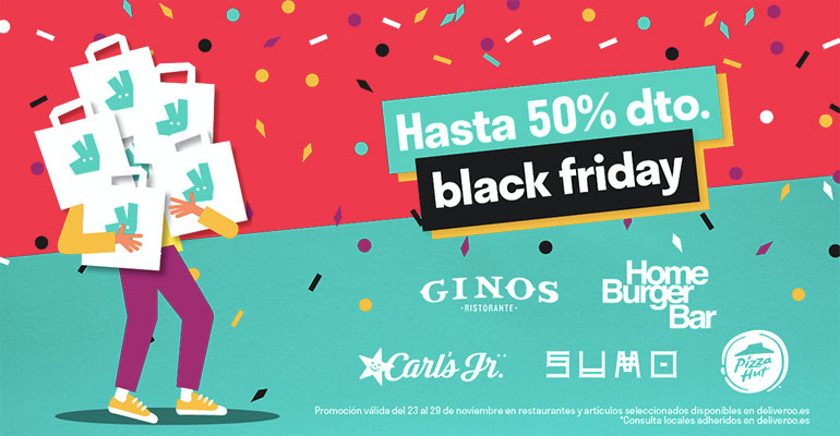 El Black Friday aumenta un 50% los pedidos a domicilio
