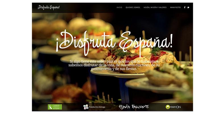 Home principal de la pagina web de Disfruta España