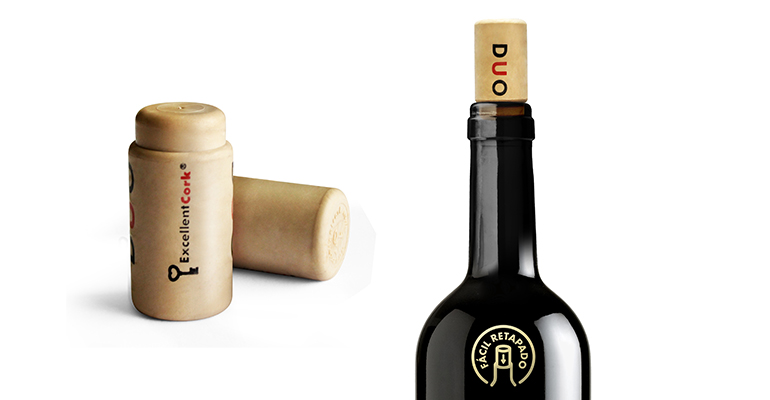 DuoCork tapón para retapar botellas de vino