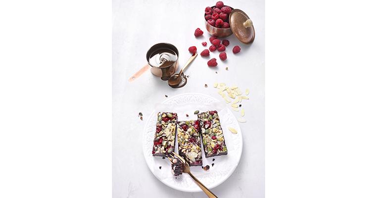 brownie de frambuesa