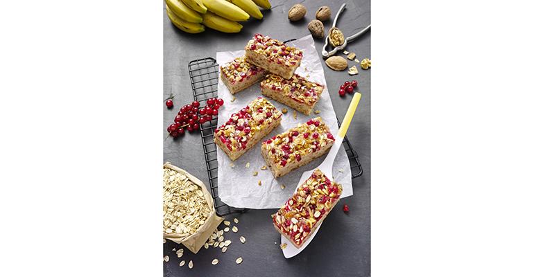 La plancha de plátano y grosella