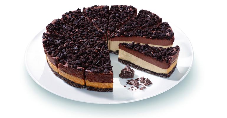 cheesecake con chocolate y café