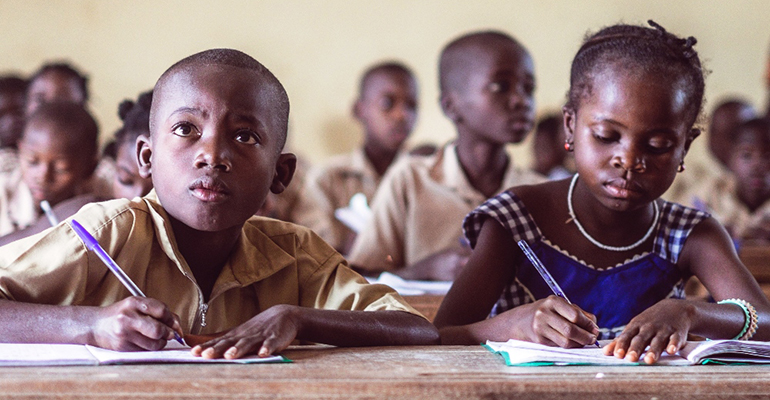 Escolares en Costa de Marfil