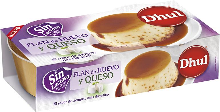 Flan huevo y queso sin lactosa de Dhul
