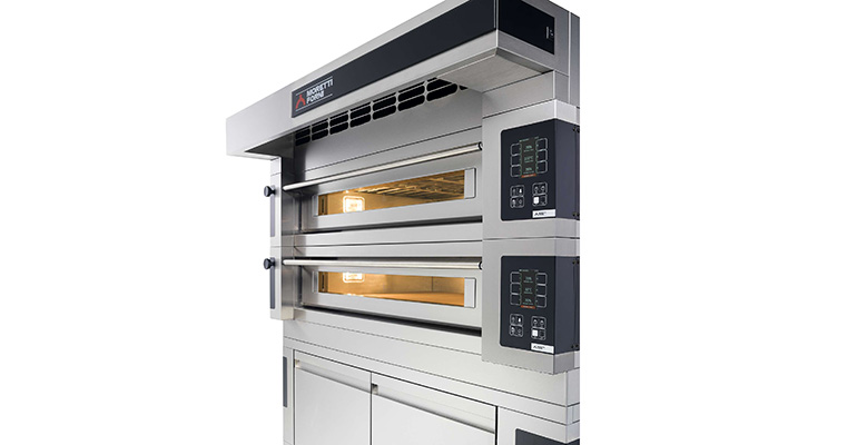 Horno para pizzas y productos de pastelería Frigicoll Moretti Forni Serie S
