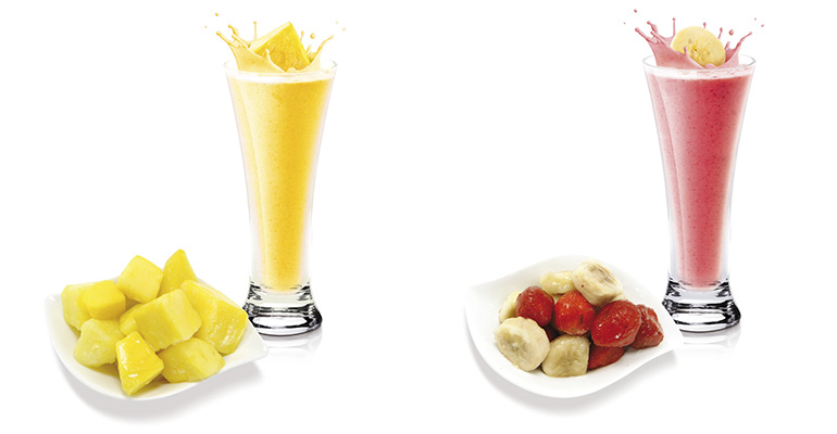 Frutas para smoothies batir y listo