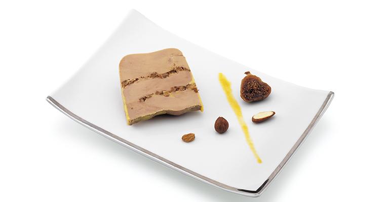 Foie gras entero con frutos secos Rougié