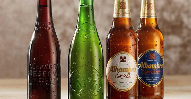 Gama completa de Cervezas alhambra