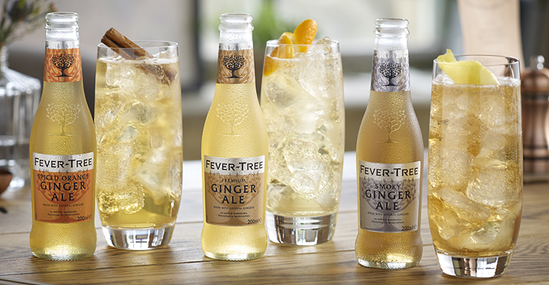 Fever-Tree lanza dos nuevos mixers de ginger ale, spiced Orange y Smoky