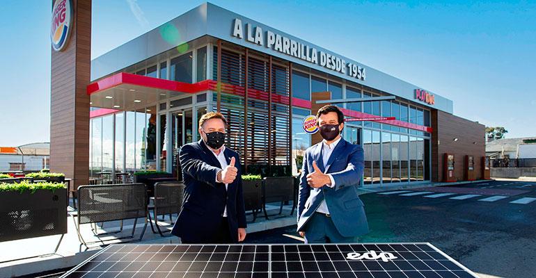 Burger King implanta con EDP paneles fotovoltaicos en cerca de 300 restaurantes