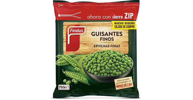 Bolsa verduras congeladas cierre zip Findus