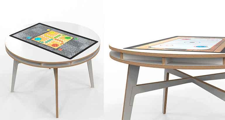IKC round mesa familiar de juegos