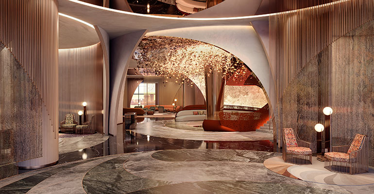 SO Moscow, Lobby by Rockwell Group
