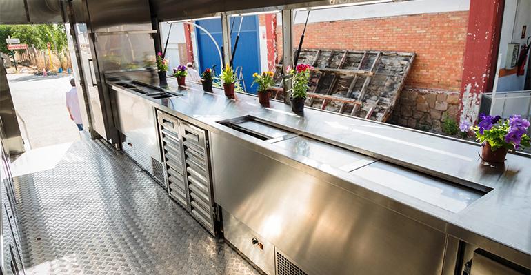 Interior del food truck
