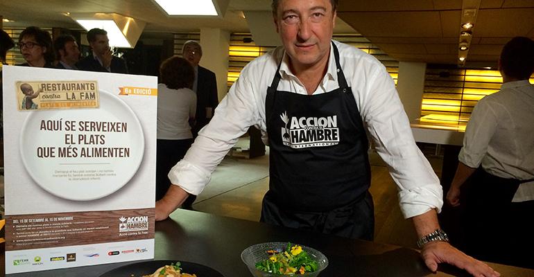 Joan Roca en el inicio de la campaña restaurantes contra el hambre