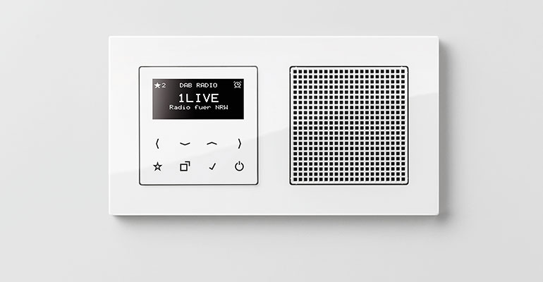 Radio empotrable de jung