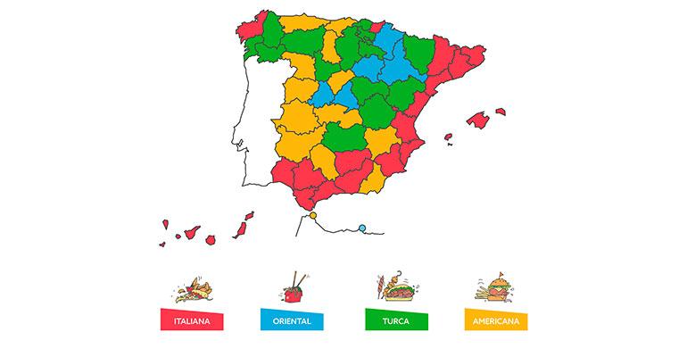 Just Eat consumo por provincia