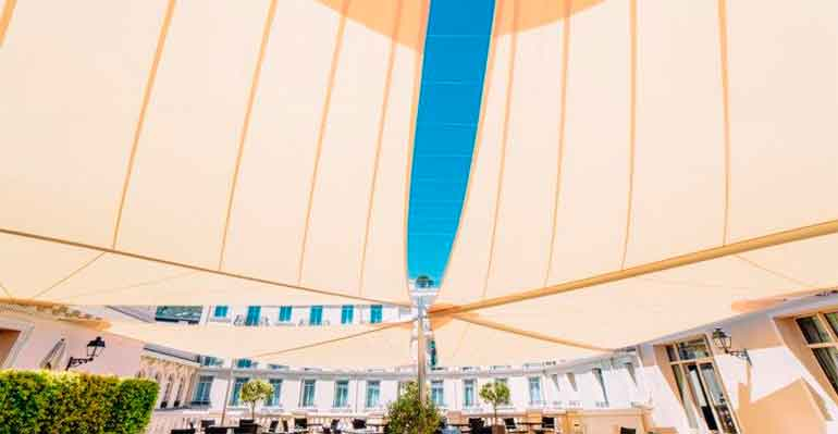 velas KHEOPE en la terraza del Hotel  Hermitage de Monte Carlo