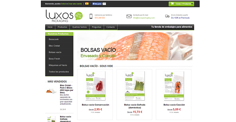 LUXOS PACKAGING es una tienda online de embalajes alimentarios