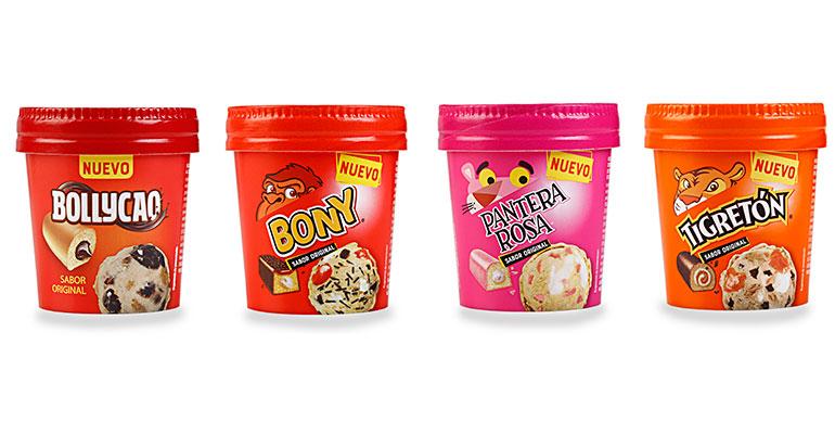La Ibense helados pastelitos bimbo