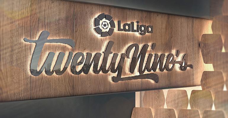Así será el TwentyNine's, el sport bar de LaLiga y Barceló