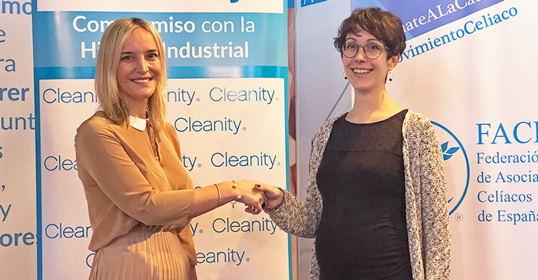 Mariam Burdeos, Directora General de Cleanity, junto a Izaskun Martín Cabrejas, Coordinadora de FACE