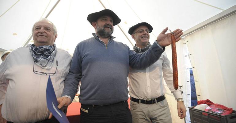 Ha sido proclamada la mejor chistorra en el último concurso de Santo Tomás celebrado en Donostia
